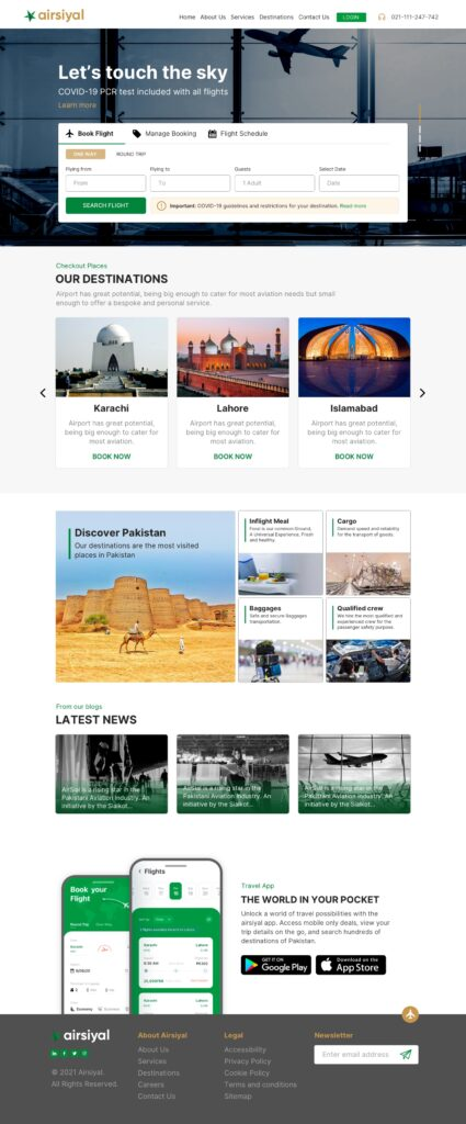 airsiyal website concept